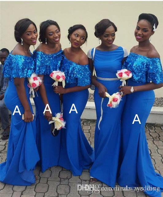 e78a8706954f5 2019 New Mermaid Bridesmaid Dress Nigerian African Summer Country Garden  Formal Wedding Party Guest Maid of Honor Gown Plus Size Custom Made