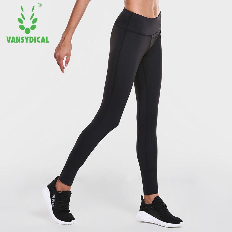 Vansydical High-taille Yoga Hosen Frauen Strumpfhosen Elastische Quick Dry Lauf Fitness Sport Leggings Training Jogging Gym Bottoms Strumpfhosen
