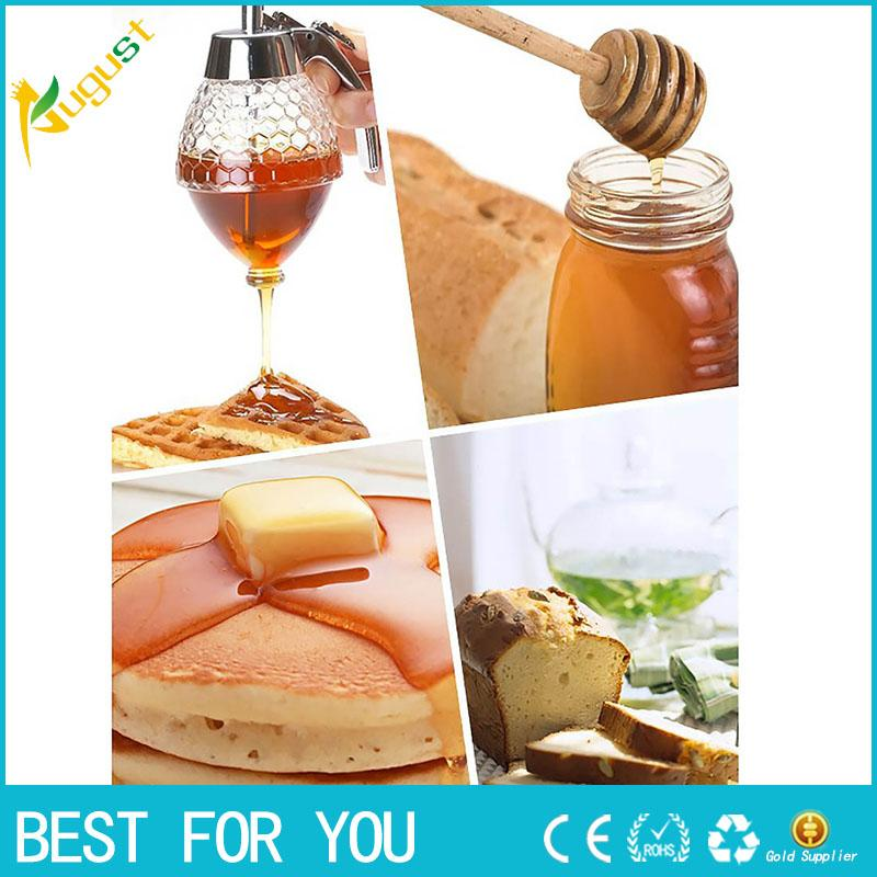 6e1ad187e32b New hot Portable 200ML Honey Dispenser Jar Container Acrylic Cup Juice  Syrup Kettle Kitchen Bee Drip Stand Holder Spice Tools