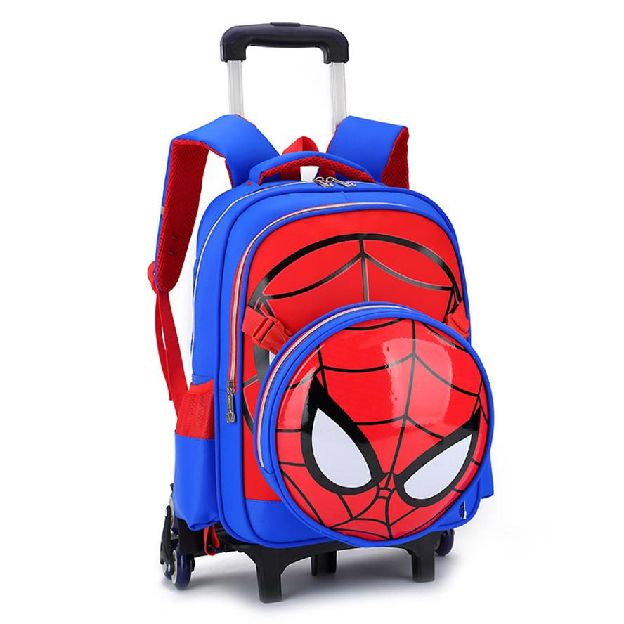 7d270a3417b5 2017 New School Bag With 6wheel Removable Backpack Cartoon Orthopedic School  Bags Trolley Bags For Girls Boys 3 6 Grade Travel Bags Online Kids  Suitcases ...