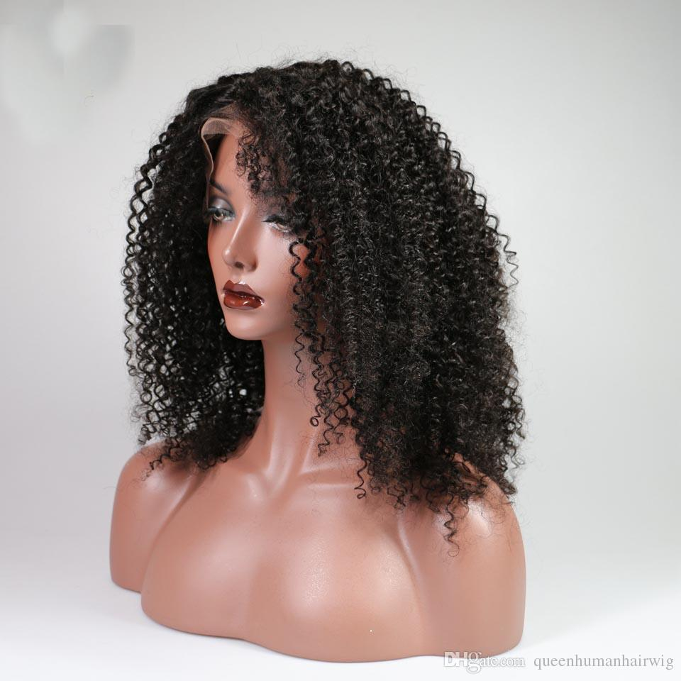 360 Lace Frontal Wig Human Hair Wigs Afro Kinky Curly Brazilian Remy Hair Pre Plucked Lace Wigs For Black Women With Baby Hair