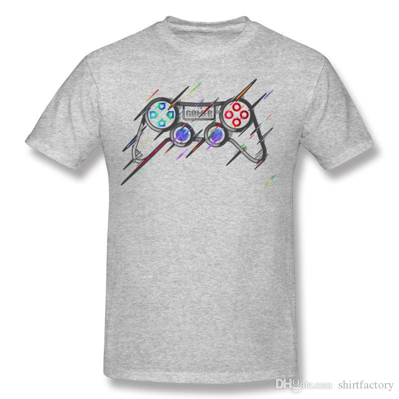 Best Choice Mens Pure cotton GAME Controller T-Shirts Mens Crewneck White Short Sleeve T Shirts S-6XL Printed On T-Shirts