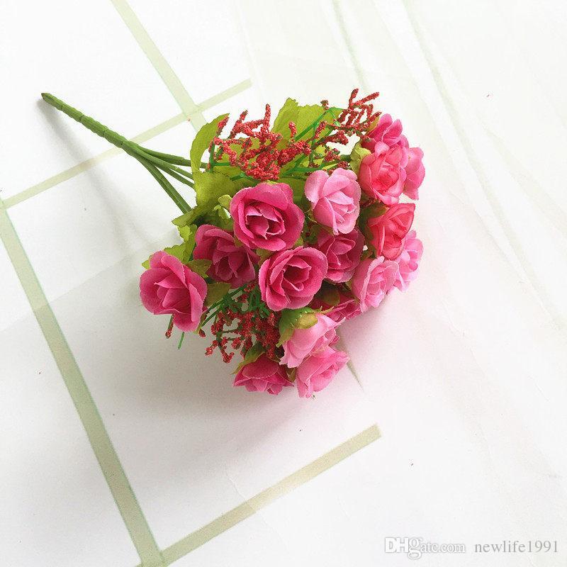 Romantische Rosen-Blumen-Hochzeits-Rosen-Dekorations-kleines Rosen-Partei-Geburtstags-Ausgangsdekor-Schlafzimmer, das Blumendekorationen gibt, geben Schiff frei