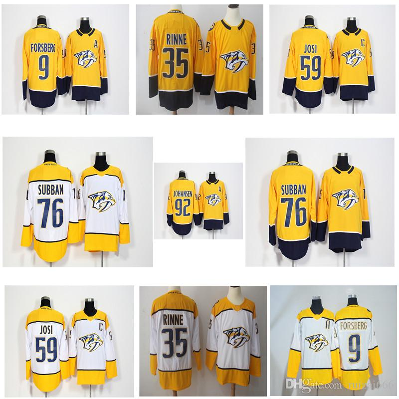 550b65d69 2018 New Nashville Predators 9 Filip Forsberg 12 Mike Fisher 35 ...