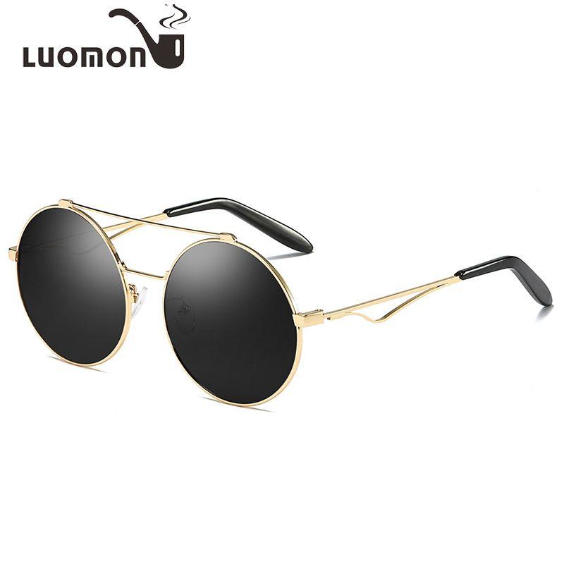 d561895b7f LUOMON Round Sunglasses Women Retro Vintage Polarized Glasses New ...