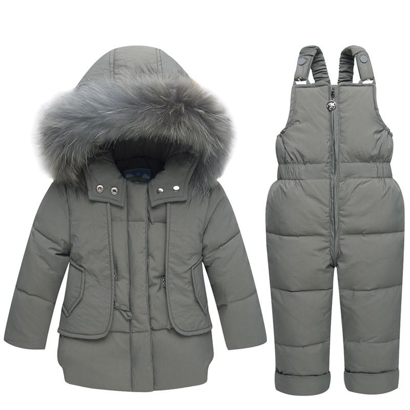 4f4b7da02 2019 2018 Winter Boys Girl Clothes Children Clothing Set Baby Duck Down  Jacket + Pants Overalls Warm Kids Clothes Snowsuit 1 2 3Years From Bdshop,  ...