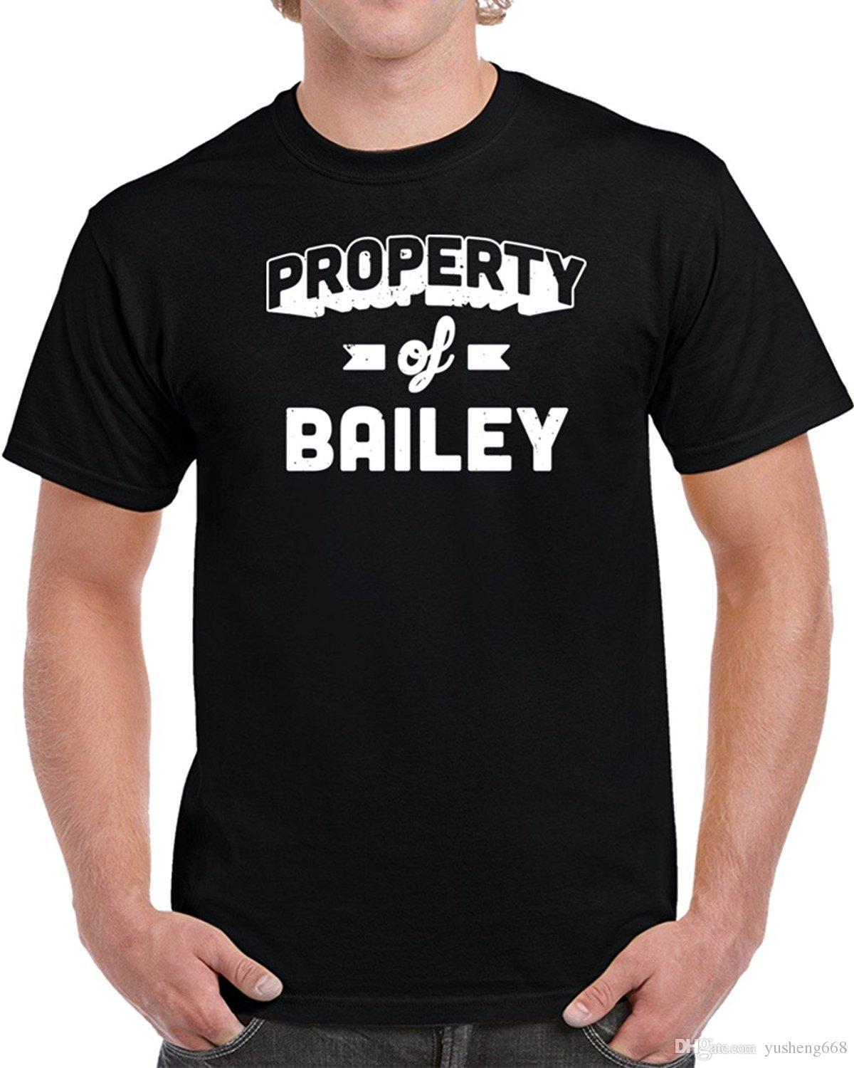 686bc422a10387 Property Of Bailey Men S T Shirt Family T Shirts Printed Shirt From  Lefan02