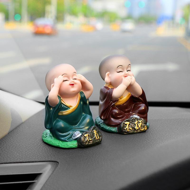Großhandel Little Buddha Statue Mönche Figuren Auto Handwerk ...