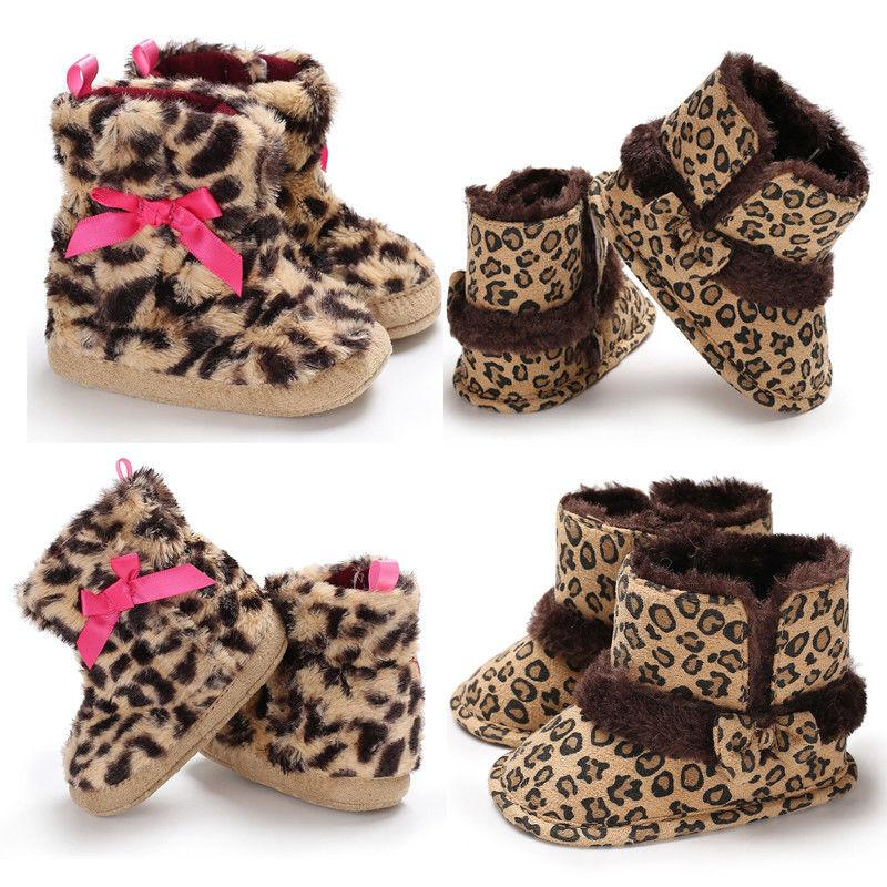 1c3cc72a8fef 2018 New Brand Kids Baby Girls Leopard Boots Winter Warm Bow Knot Toddler  Infant Casual Ankle Shoes 0 18M Kids Rainboot Cool Kids Boots From  Ouronlinelife, ...