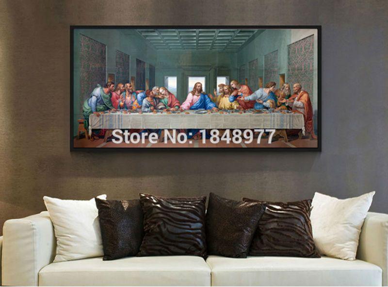 2018 Classic Famous Wall Art Print The Last Supper Leonardo Da Vinci ...