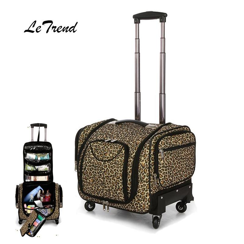 2caab7677249 Multifunction Cosmetic Case Rolling Luggage Spinner High Capacity Suitcase  Wheels Carry On Trolley Cabin Travel Duffle Wheeled Duffle Bags Carry Bags  From ...