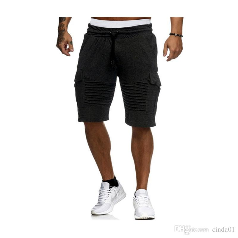 78c6859151619 2019 Mens Clothing Summer Casual Solid Color Shorts Leisure Pants Male  Outdoor Athletic Striped Shorts From Cinda01, $34.83 | DHgate.Com