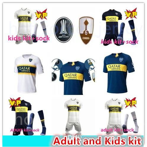82ac2a267 2019 17 18 Boca Juniors Adult And Kids Soccer Uniforms Short Sleeve 18 19  Boca Juniors Soccer Jersey Shorts + Socks Boc Football 3RD Soccer Kits From  ...