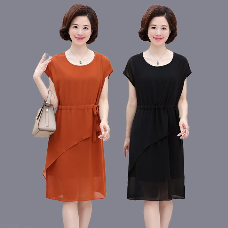 2019 2017 New Mother Dress 40 50 Year Old Middle Aged Women S Summer