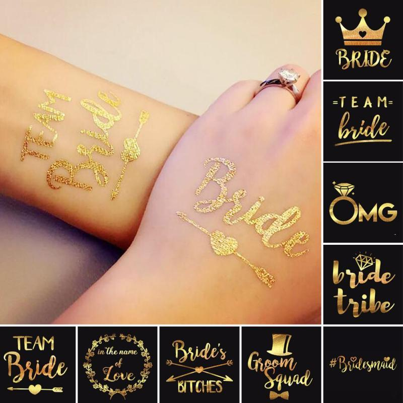 Bride Temporary Tattoo Bachelorette Party Bride Flash Tattoos ...