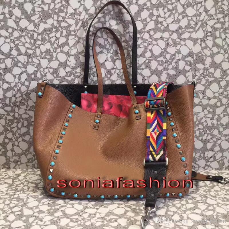 New Hot Fashion Women Designer Genuine Leather Big Size Lady Convertible Shoulder  Tote Bag Women Bag Tote Bag Shoulder Bag Online with  319.15 Piece on ... 6f09b6292e551
