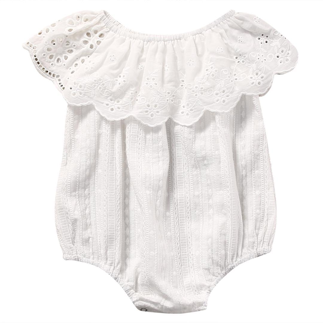 f5187ebd6cc 2019 Soft Cotton Newborn Baby Girl Romper Clothes White Lace Playsuit  Jumpsuit Outfit Summer Bebes Cute Sunsuit 0 24M From Ferdimand