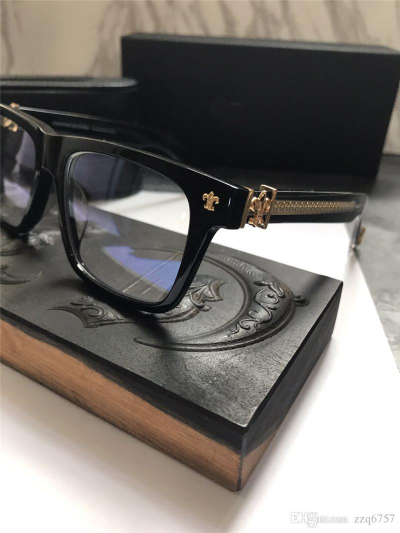 Nueva gafas vendimia gafas de diseño CHR prescripción steampunk cuadrados hombres del estilo de montura de la lente transparente gafas de protección clara