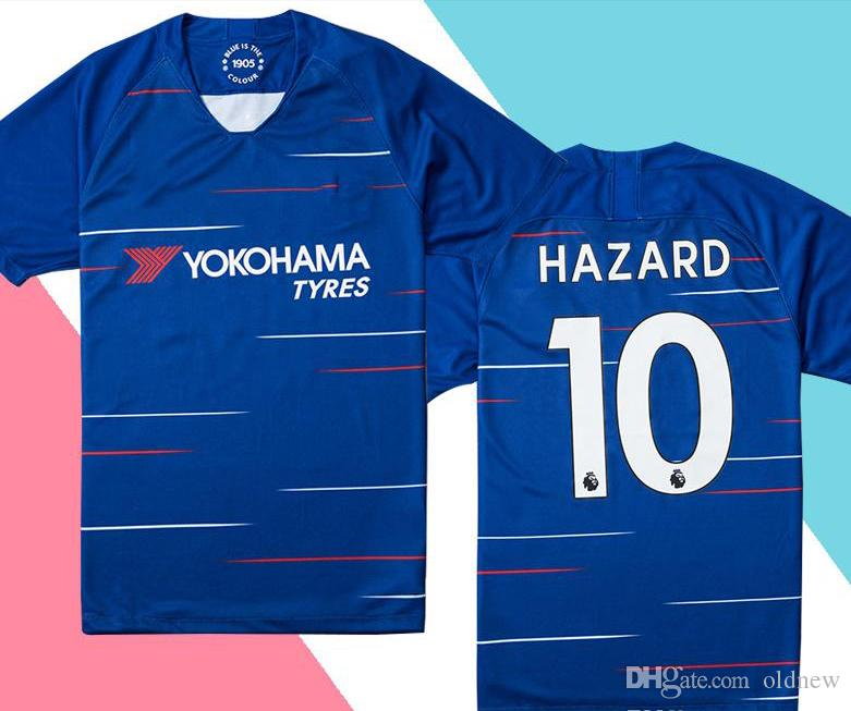 2151621838 2018 19 Chelsea Quality HAZARD Home Blue Soccer Jersey MOROTA WILLIAN Short  Sleeve Soccer Shirt 2019 KANTE FABREGAS Football Uniforms Sale KANTE Jersey  ...