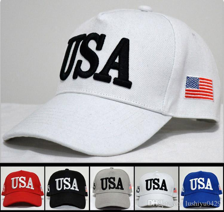 Compre Gorras Ajustables Transpirables Trump EE. UU. 45 Números Sombrero De  Béisbol Hip Hop Para La Primavera Y El Verano Gorra Roja B R A  2.32 Del ... 0e4423d8e83