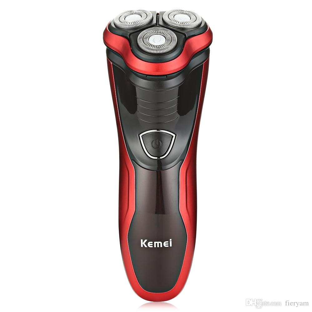 Kemei Electric Shavers 3D Floating Heads Shaver Wet Dry Washable Electric Razor Shaver for Men Beard Trimmer Machine KM-9013