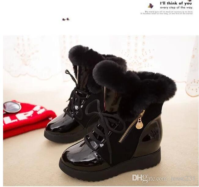 Sonbahar ve kış yeni stil kadın kadife sıcak kar botları Avrupa ve Amerikan moda öğrenci ayakkabı kürk kısa çizmeler