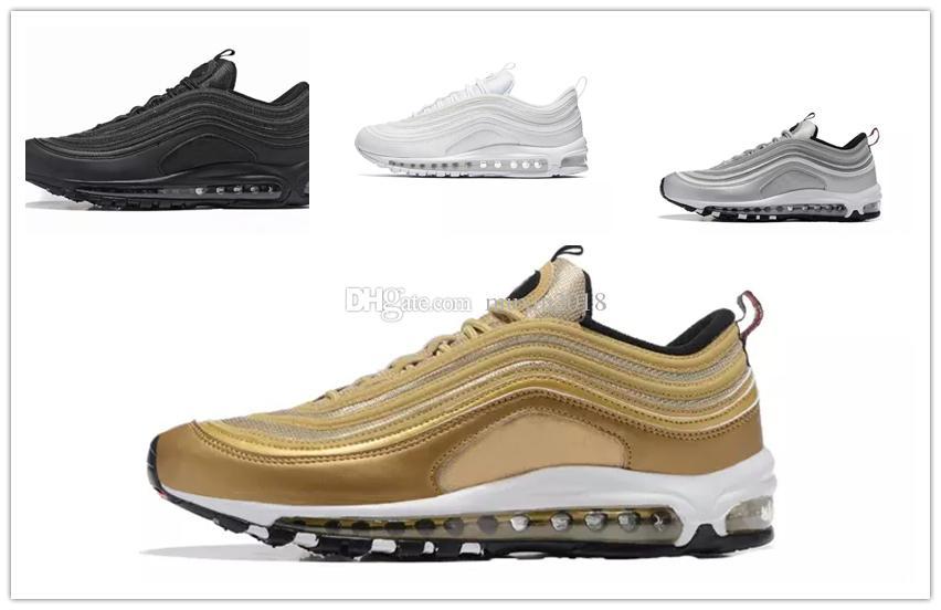 nike air max airmax 97 Hommes en cours d exécution Chaussures Coussin 97 KPU En Plastique Pas Cher Chaussures De Mode De Mode en gros femmes En Plein