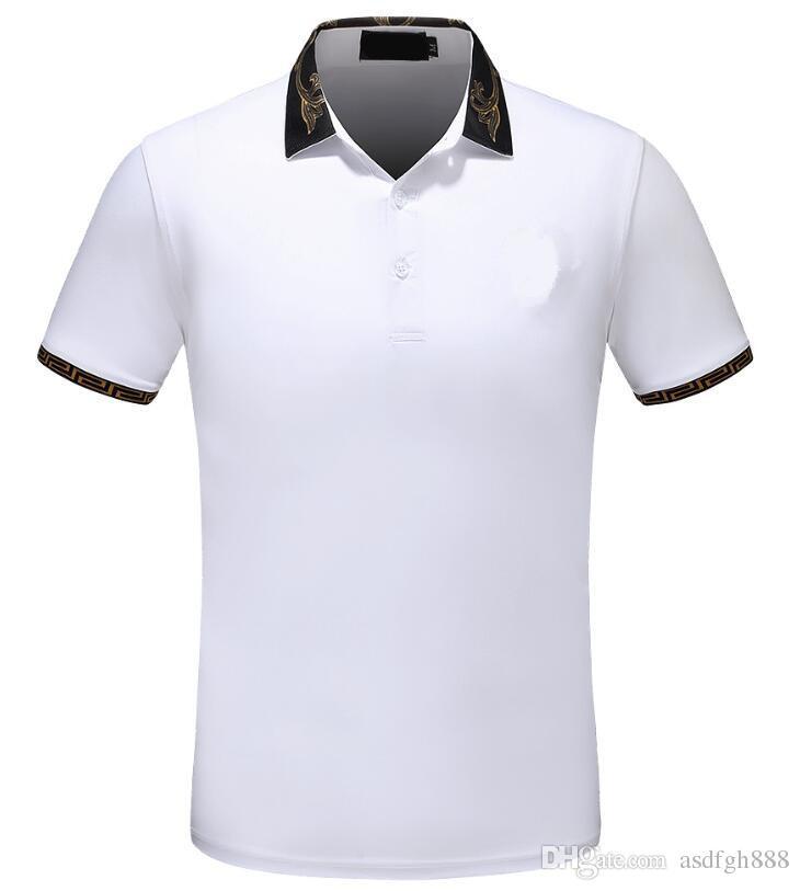 2018 Newest Short Sleeved Polo Shirt Men Summer New Cotton T Shirt