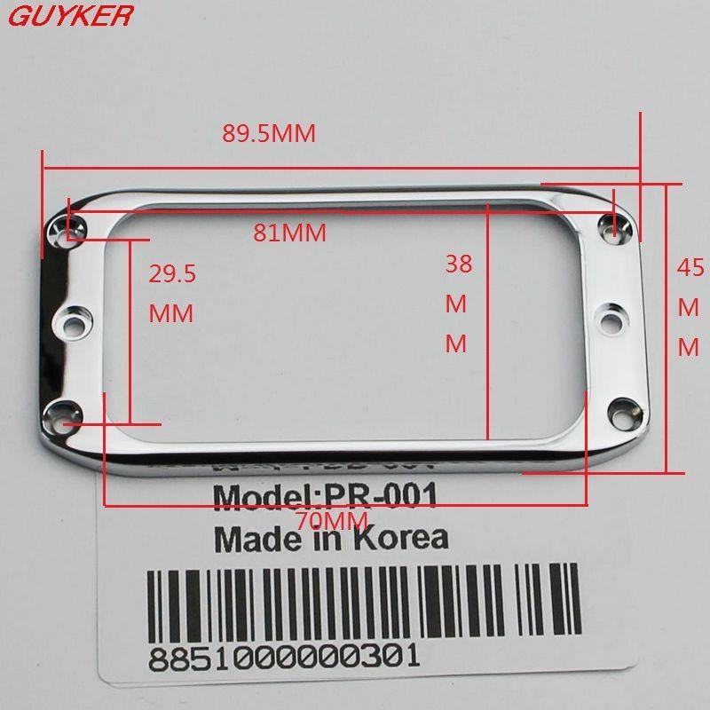 Guitar Humbucker Pickup Frame Anello di montaggio Tricolore opzionale