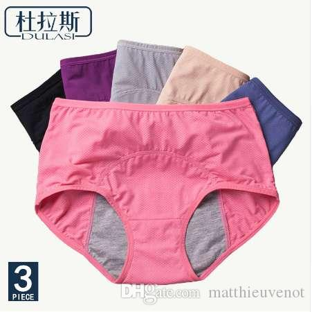 9811344e95d6 2019 Physiological Pants Leak Proof Menstrual Women Underwear Period  Panties Cotton Health Seamless Briefs High Waist Warm Female From  Matthieuvenot, ...