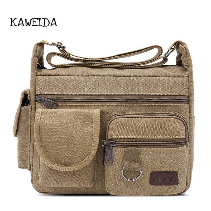 5e98aed9b Men Large Black Messenger Bag With Flap Canvas Cross Body Casual Bags Big  Capacity Khaki Brown Amy Green Shoulder Purse Satchels Leather Handbag  Branded ...