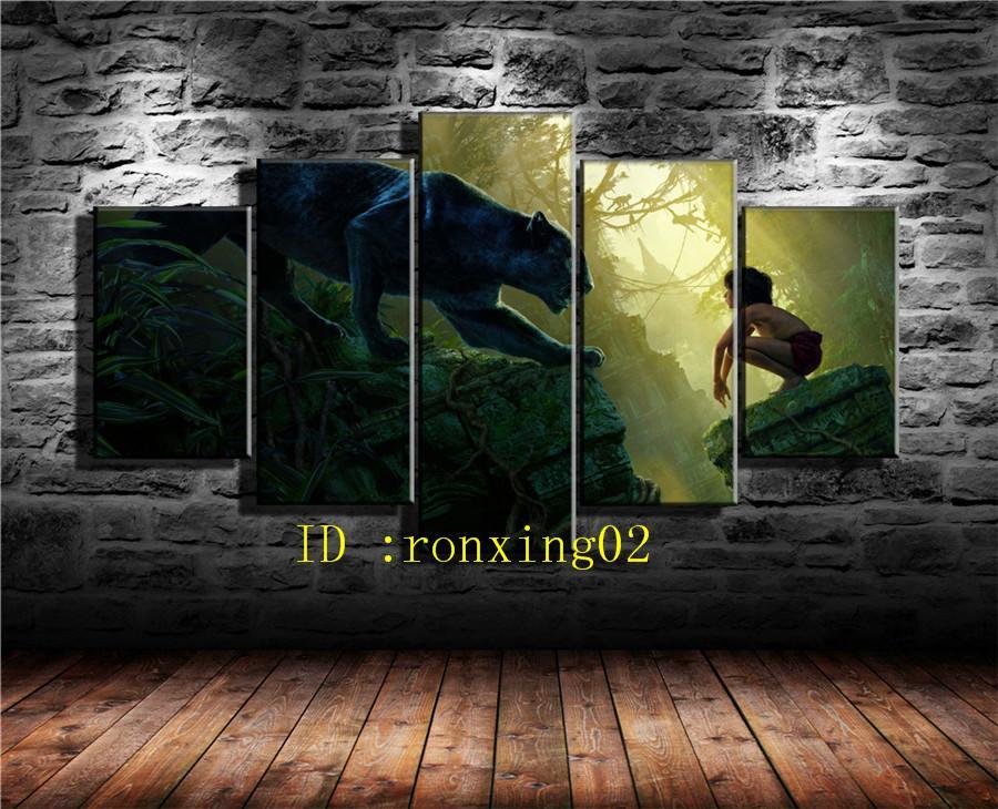 Compre Pantera Negra 3,5 Piezas Decoración Para El Hogar Hd Impreso ...