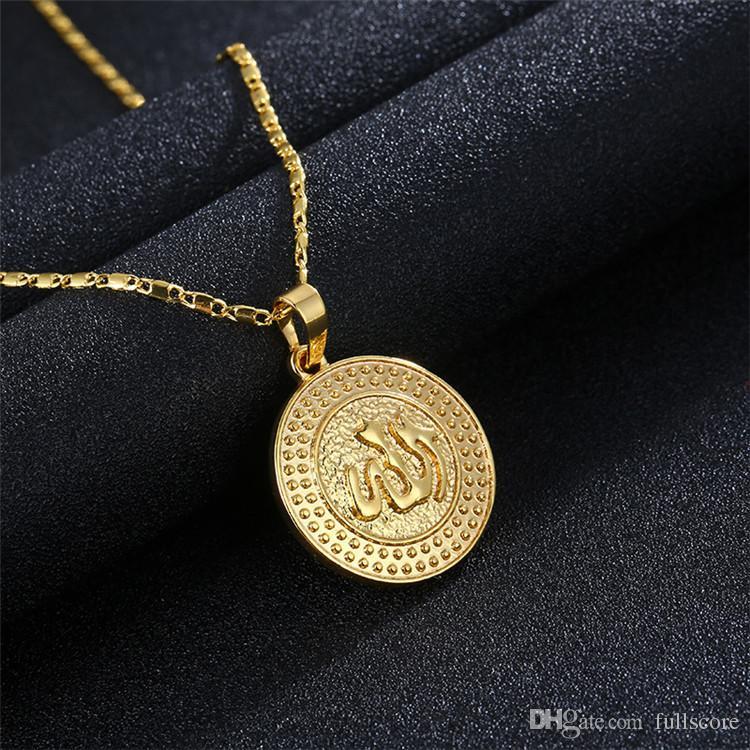 New Multi Style Sun Shape Arabic Women Gold-color Muslim Islamic God Charm Pendant  Necklace Jewelry Ramadan Gift Birthday Fashion Necklace Hip Hop Men Women  ... 0965b6b7c3b2