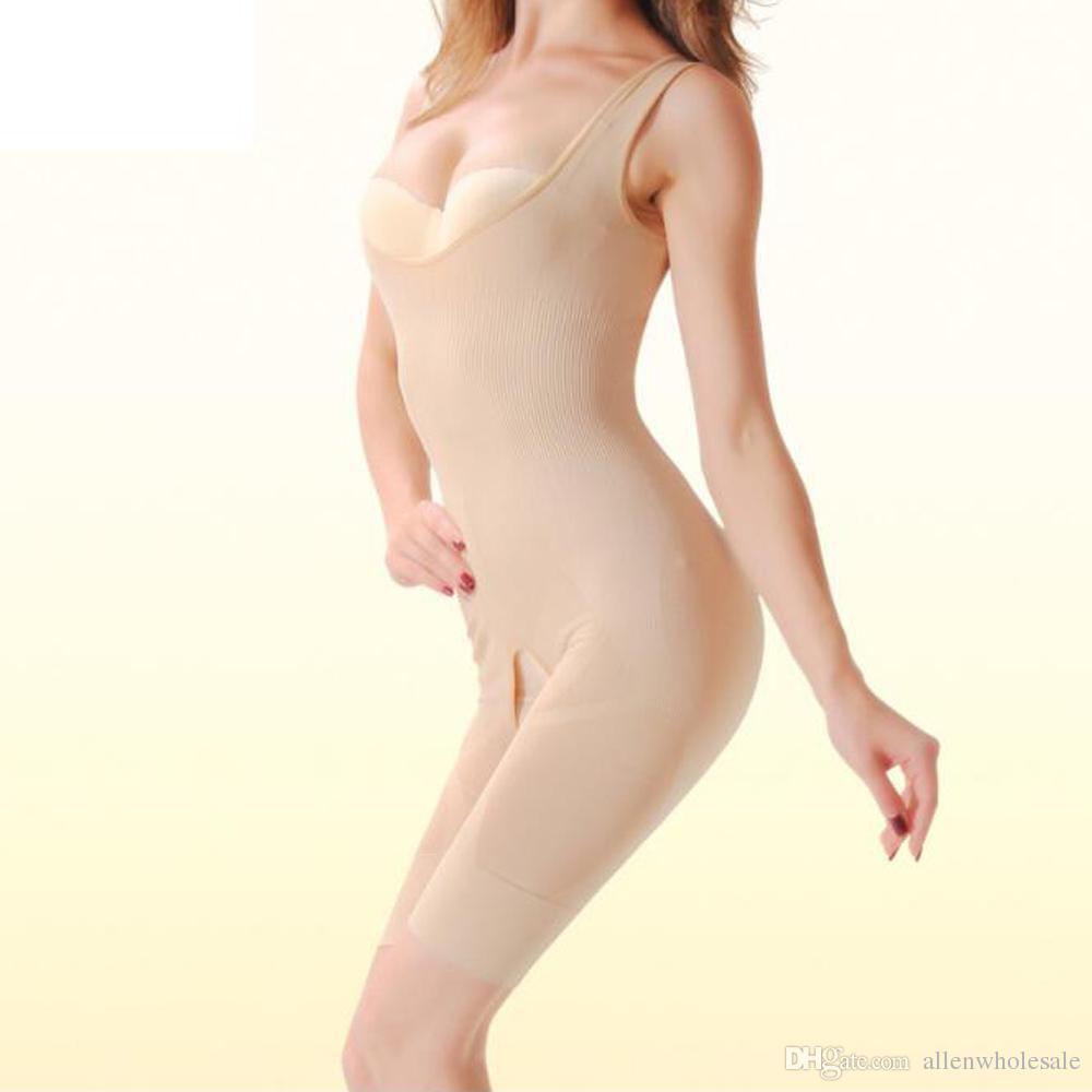 Femmes Costume charbon de bambou Minceur naturel Bodys Sous-vêtements Body Shaper 3 couleurs