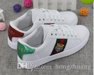36cd2678acd Men Women Sneakers Loafers G Embroidery Snake White Casual Runner Shoes  Fashion Designer Luxury Brand Unisex Sports Shoes Adult Walking Shoe Mens  Shoes ...