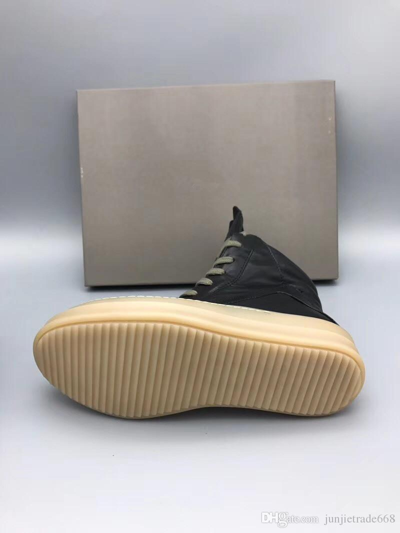 2018ss en kaliteli orijinal TPU sepeti perçin ayakkabı hool eğitmen unisex lüks çizmeler yeni liste en orijinal deri kaya çizmeler