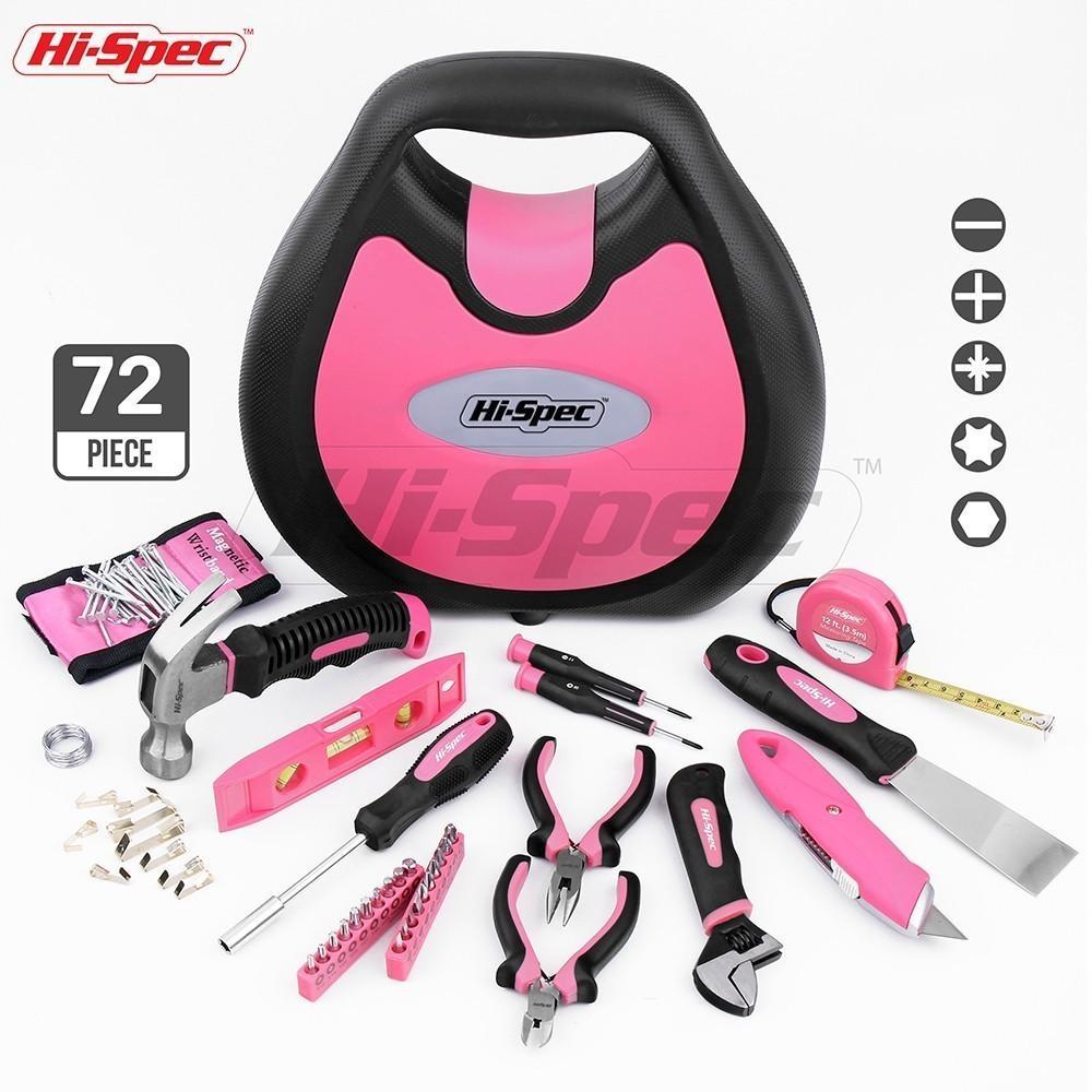 Grosshandel Hallo Spec Rosa 72 Stuck Handwerkzeug Set Madchen Dame