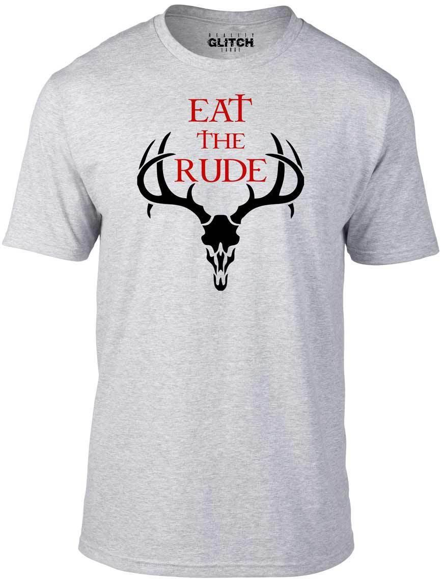Eat the Rude T-Shirt - Funny t shirt retro hannibal horror cool season cannibal Cool Casual pride t shirt men Unisex New