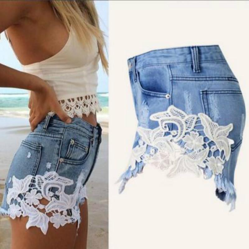 a195931ab5f 2019 New Arrival Sexy Denim Shorts Women'S Fashion Brand Vintage Tassel Lace  Ripped Loose High Waisted Shorts Jeans Punk From Estartek2, $24.12    DHgate.Com