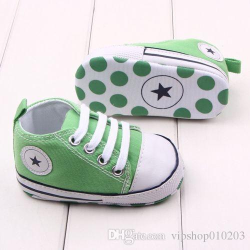 0-18 Meses Zapatos del niño recién nacido del niño que la niña de la zapatilla de deporte de cuna suave Sole primeros caminante