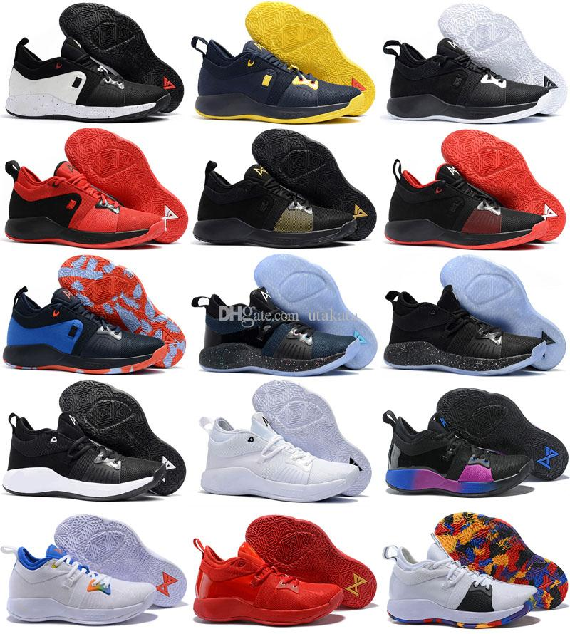 72fd10e608d 2018 New Arrival Paul George 2 Basketball Shoes For Hig Quality PG2 PS4 Playstation  Black BLue Red White PG 2s Sports Sneakers Size 40 46 Sneakers Online ...