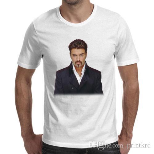 942bef75 George Michael Wham Tribute White T Shirt Cool Mens Funny T Shirts Buy  Shirts From Printkrd, $10.38| DHgate.Com