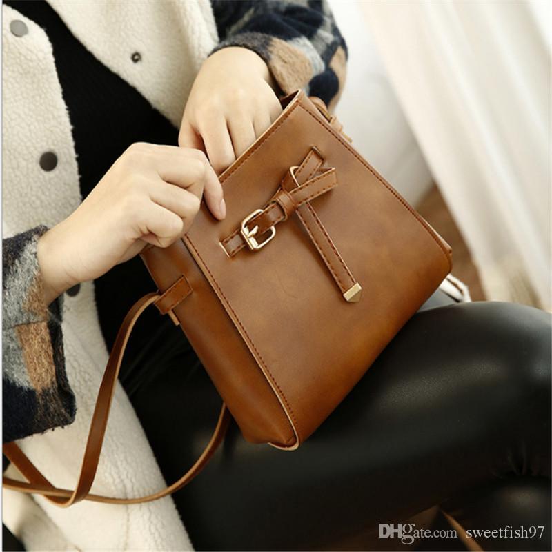 642357fcc3 2018 New Style High Quality PU Leather Women Single Shoulder Bags Leisure  Fashion Crossbody Female Shoulder Bag Designer Handbags On Sale Black  Handbag From ...