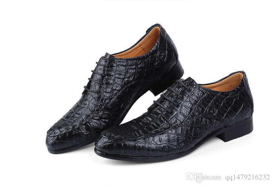 Erkekler Için deri Hakiki Deri Oxford Ayakkabı İş Timsah Ayakkabı erkek Elbise Ayakkabı Artı Boyutu Düğün ABD size6.5-14 b91