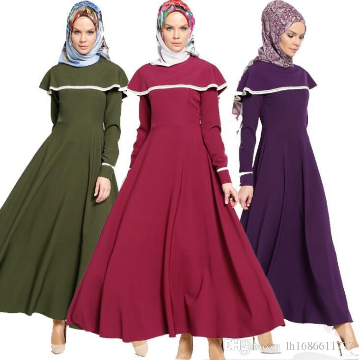 4ff30133980 Acheter Manteau Femme Kaftan Abaya Robe Musulmane Jupe Robe Turque Robe  Femme Musulmane Abaya Robe Robe Saoudienne Moyen Orient De  32.17 Du  Lh1686611777 ...
