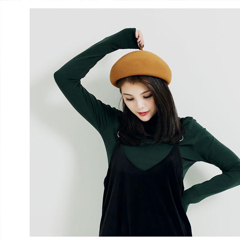 Compre Mujeres Invierno Boina Del Sombrero De Lana Femenina Mezcla De  Algodón Cap Otoño Marca Nueva Mujer Sombreros Gorras Negro Gris Rosa Boinas  De Mujer A ... 9167ed61649