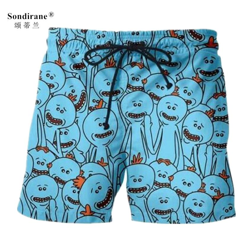 6a300d30d5 2019 Sondirane New Fashion 3D Cartoon Print Funny Shorts Summer Quick Dry Beach  Shorts Casual Men Elastic Waist Beach Cool Men From Fitzgerald10, ...