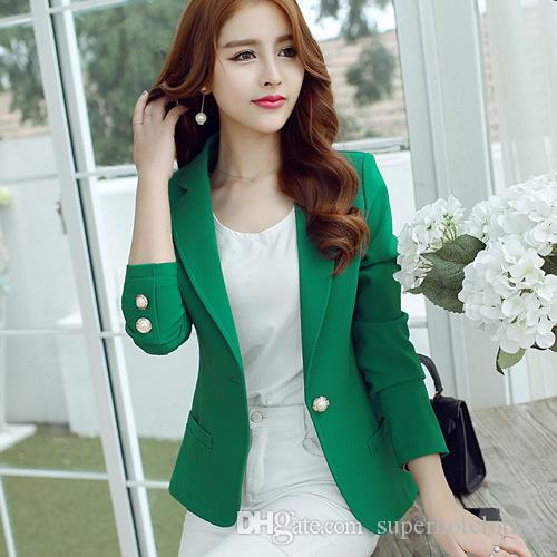 250037df1a46c Slim Short Suit Women Blazers And Jackets 2018 Women Blazers Short Blazers  Office Casual Short Jacket Long Sleeve Online with  33.54 Piece on ...
