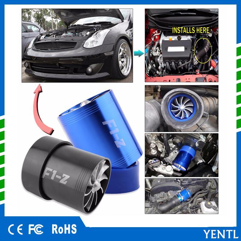 New Auto Power Car Air Intake Turbonator Dual Fan Turbine Gas Fuel Saver Turbo