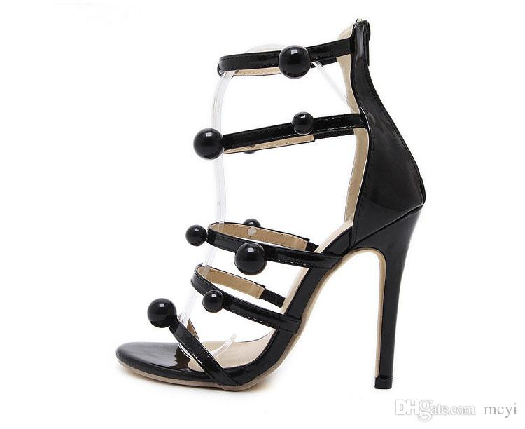 24c8855645894 Wholesale European And American Summer High Heel Sandals For Women Ball  Decoration Hollow Sexy Wedding Sandals Heel 12cm Bamboo Shoes High Heels  Shoes From ...